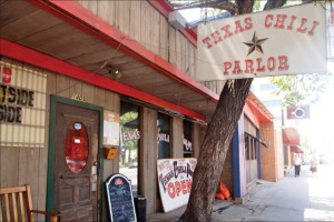 The Texas Chili Parlor continues to offer many dishes that were on its first menu in 1976.