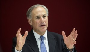 Greg Abbott, governor of Texas, speaks during an interview in New York, U.S., on Tuesday, July 14, 2015. Since Texas won a court case allowing it to refuse Confederate flag license plates, the state has been in the vanguard on the debate over whether states should remove flags, Abbott said. Photographer: Michael Nagle/Bloomberg via Getty Images