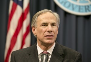 Gov. Greg Abbott talks about President Obama's immigration executive order at a news conference at the Capitol in Austin, Texas, on Wednesday February 18, 2015.  (AP Photo/Austin American-Statesman, Jay Janner)